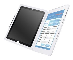 Carcasa con tapa y soporte para iPad/ iPad2 – blanco