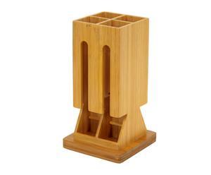 Soporte para cápsulas de café en madera