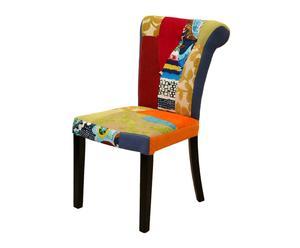 Set de 2 sillas con tapizado patchwork
