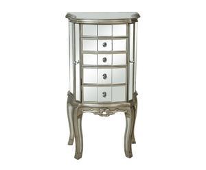 Mueble Joyero de Madera con 5 cajones – efecto Espejo