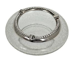 Cenicero de cristal y metal Marcos