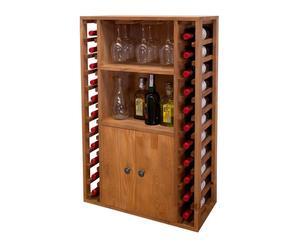 Botellero de madera con soporte para copas Godello - 22 botellas