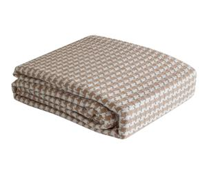Plaid multiusos Yoga, crudo y beige - 180x260