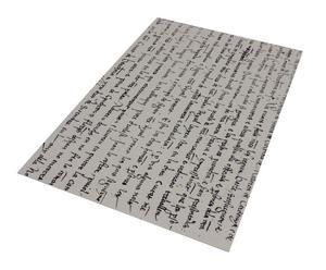 Alfombra vinílica decorativa Manuscrito, blanco – 100x150