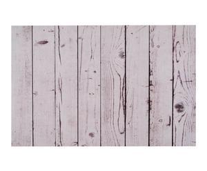Alfombra vinílica Tablas, blanco y gris – 99x120