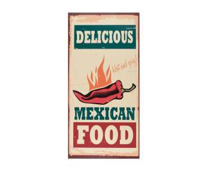 Alfombra vinílica de cocina Mexican Food– 50x100