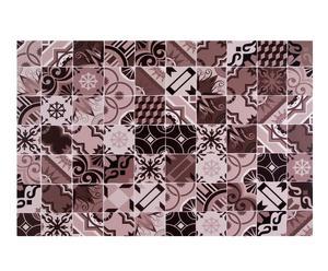 Alfombra vinílica decorativa baldosas hidráulicas, gris – 100x150