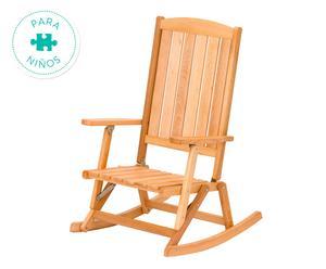Mecedora infantil en madera de haya– natural