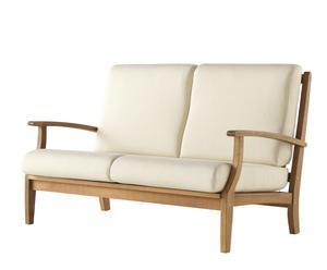 Sofá de madera – natural y beige