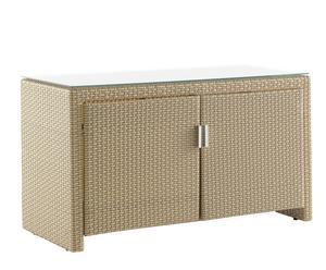 Mueble de 2 puertas en aluminio y resina - miel