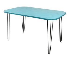 Mesa de comedor en metal - azul