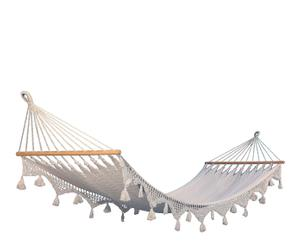 Hamaca en red de algodón con flecos – natural