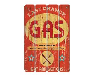 Panel Retro en madera Last Chance Gas
