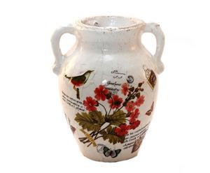 Vasija de cerámica Pájaro