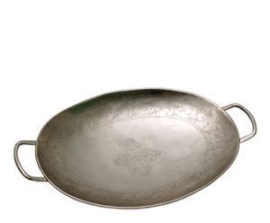 Bandeja ovalada de metal – plata