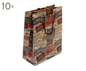 Set de 10 bolsas de papel Matrícula