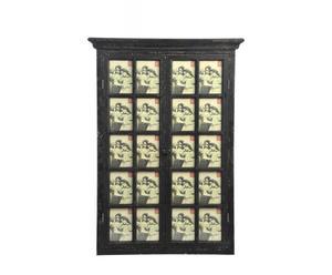 Ventana decorativa con portafotos en madera de pino, DM y vidrio