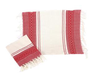 Mantel individual Oax - rojo