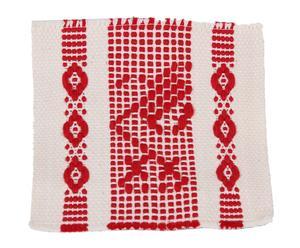 Posavasos en algodón - beige y rojo