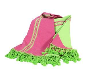 Mantel de algodón, rosa y verde – Ø180