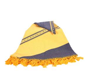 Mantel de algodón, morado y amarillo – Ø180