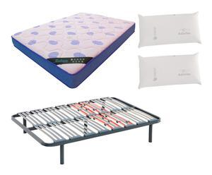 Set de colchón visco 150x200, 2 almohadas y somier