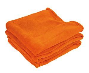Manta de viaje en microfibra, naranja – 130x170cm