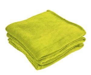 Manta de viaje en microfibra, verde – 130x170cm