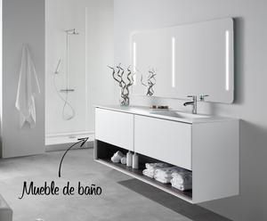 Mueble de baño suspendido y lavabo GEO 140