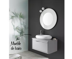 Mueble de baño suspendido y lavabo THAIS UNO 80