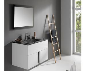 Mueble de baño suspendido, lavabo y espejo LIMIT 80 - BLANCO
