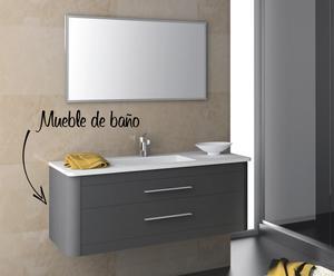 Conjunto de mueble de baño y lavabo Clan 80 – antracita