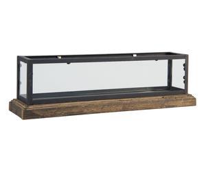 Acuario natural en madera de abedul, hierro y cristal - pequeño