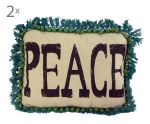 Set de 2 cojines en Peace