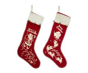 Set de 2 calcetines para los regalos de navidad – lavable