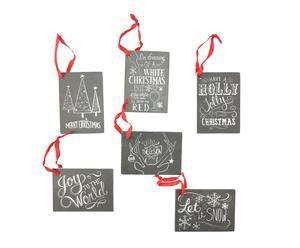 set de 6 Etiquetas para identificar regalos en Navidad