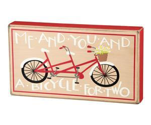 Panel decorativo en madera Bicycle – 29x16 cm
