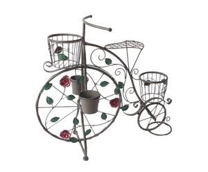 Set de 3 maceteros en metal Bicicleta - Gris