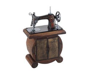 Máquina de coser decorativa en madera y resina II