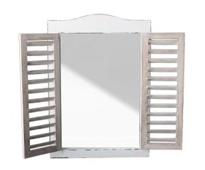 Espejo de pared de madera con ventana