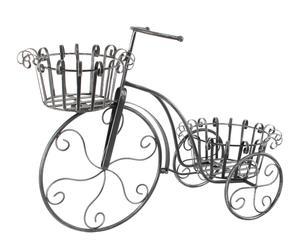 Bicicleta portatiestos en forja – negro ceniza I
