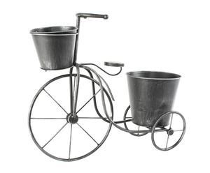 Bicicleta portatiestos en forja – negro ceniza II