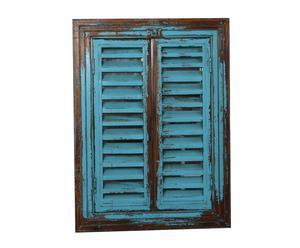 Espejo de Pared en Madera Ventana - Azul