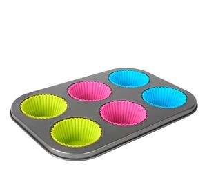 Molde Antiadherente de Metal y Silicona Cupcake