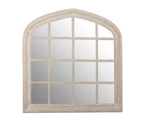 Espejo de madera Ventana, natural – 120x120x5