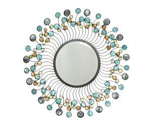 Espejo de metal Sol - plata