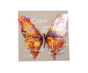Cuadro pintado a mano Mariposa I