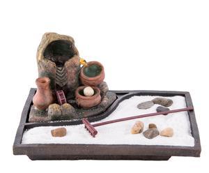 Fuente eléctrica en resina Bola Luz Buda Jardín zen