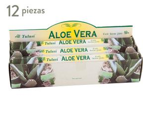 Set de 12 cajas de incienso con 20 sticks cada una aroma Aloe vera