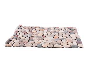Alfombra de baño de piedras naturales, marrón – 76x50